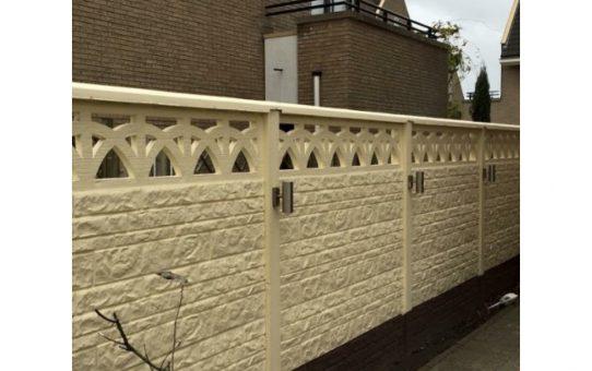 De ideale schutting: Een beton schutting!